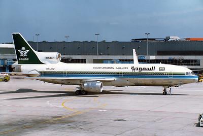 Saudia - Saudi Arabian Airlines  HZ-AHQ Lockheed L-1011-385-1-15 TriStar 200 MSN: 193S-1192 Frankfurt am Main (Rhein-Main AB) (FRA / EDDF) Germany - June 10, 1982