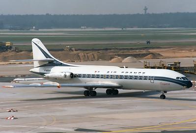 Air France  Sud SE-210 Caravelle III  MSN: 242   F-BOHA  Frankfurt am Main (Rhein-Main AB) (FRA / EDDF)  Germany  August 1, 1980
