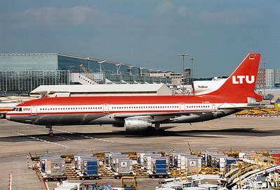 Lockheed L-1011-385-1-15 TriStar 200 LTU - Lufttransport-Unternehmen REG: D-AERN    Frankfurt am Main (Rhein-Main AB) (FRA / EDDF) Germany May 1994