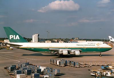 Boeing 747-217B Pakistan Intl. Airlines - PIA REG: AP-BCL    Frankfurt am Main (Rhein-Main AB) (FRA / EDDF) Germany June 21, 1987
