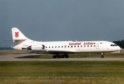 Istanbul Airlines   Sud SE-210 Caravelle 10B1R  MSN: 239 Reg.: TC-AKA  Frankfurt am Main (Rhein-Main AB) (FRA / EDDF)  Germany  September 1988