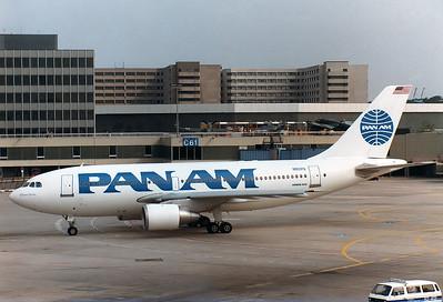 Pan Am  Airbus A310-221   MSN: 288 Reg.: N801PA  Frankfurt am Main (Rhein-Main AB) (FRA / EDDF)  Germany  September 1, 1986