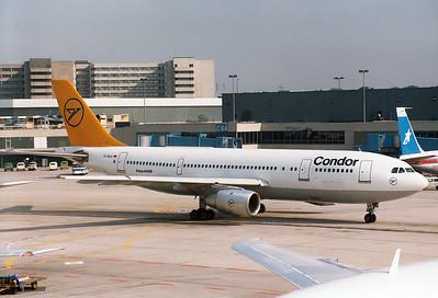 Airbus A300B4-2C Condor (Hapag-Lloyd)   D-AHLK  Frankfurt am Main (Rhein-Main AB) (FRA / EDDF) Germany July 29, 1986