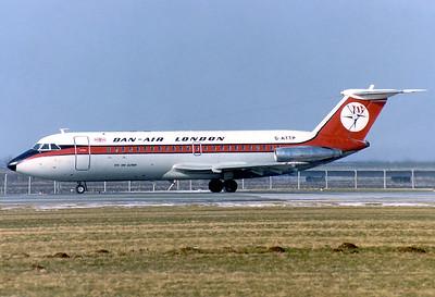 Dan-Air London BAC 111-207AJ One-Eleven Munich - Riem (MUC / EDDM) (closed) Germany, February 15, 1981 Reg: G-ATTP  Cn: 039