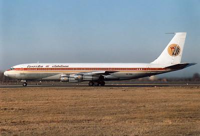 EgyptAir Boeing 707-366C Reg.: SU-AOU MSN: 19844 Line No.: 744  Munich - Riem (MUC / EDDM) [CLOSED] Germany - January 1, 1984