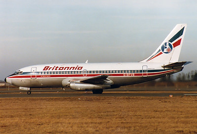 Boeing 737-204/Adv Britannia Airways REG: G-BFVB   Munich - Riem (MUC / EDDM)  Germany January 1, 1984
