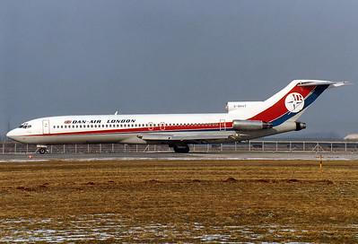 Dan-Air London Boeing 727-212/Adv  Munich - Riem (MUC / EDDM) (closed) Germany, February 15, 1981 Reg: G-BHVT   Cn: 21349/1289