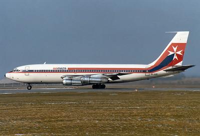 Air Malta Boeing 720-047B  Munich - Riem (MUC / EDDM) (closed) Germany, February 15, 1981 Reg: 9H-AAO Code: Cn: 18829/427