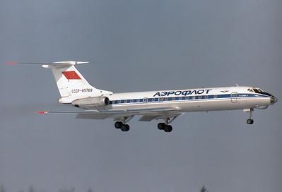 Tupolev Tu-134A-3 Aeroflot REG: CCCP-65769   Munich - Riem (MUC / EDDM) [CLOSED] Germany February 6, 1982