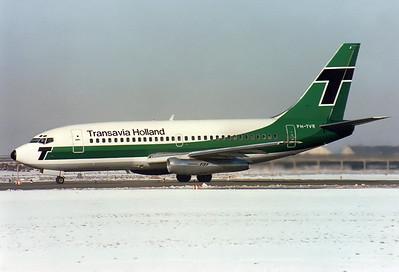 Transavia Holland Boeing 737-2K2/Adv  Munich - Riem (MUC / EDDM) (closed) Germany, January 31, 1981 Reg: PH-TVR  Cn: 22025/647 Ski Charter