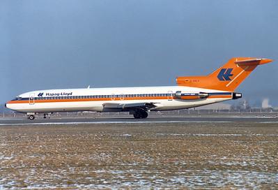 Hapag-Lloyd   Boeing 727-2K5  MSN: 21853/1640 : D-AHLV  Munich - Riem (MUC / EDDM)   Germany  February 15, 1981