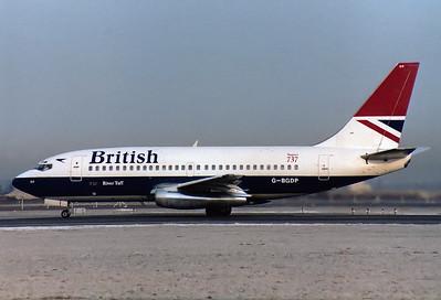 British Airways Boeing 737-236/Adv  Munich - Riem (MUC / EDDM) (closed) Germany, February 6, 1982 Reg: G-BGDP  Cn: 21804/686