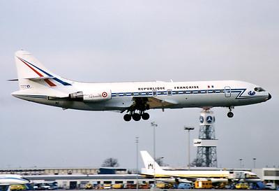 France - Air Force Sud SE-210 Caravelle 10B1R  Munich - Riem (MUC / EDDM) (closed) Germany, March 1990 Reg: 201 Code: FH Cn: 201 Radio callsign F-RAFH