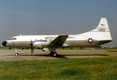 USA - Navy Convair C-131F (R4Y-1/340-71) Munich - Riem (MUC / EDDM) (closed) Germany, May 1981 Reg: 141001  Cn: 284 Based at NAS Sigonella.