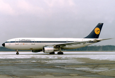 Lufthansa Airbus A300B4-2C 	Nuremberg (NUE / EDDN) Germany, February 8, 1986 Reg: D-AIBB  Cn: 057 LH widebody upgrade on the schedule to FRA due to the Int. Toy Fair.