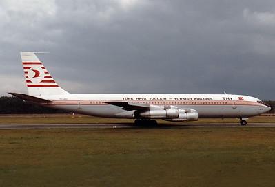 Turkish Airlines  Boeing 707-321B  MSN: 18842 Line No.: 421   TC-JBU  Nuremberg (NUE / EDDN)  Germany  October 1984