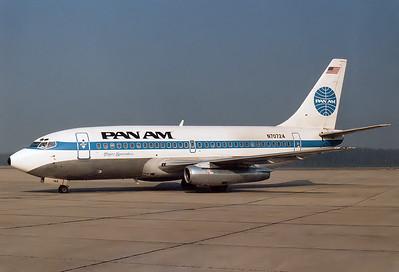 Boeing 737-297/Adv Pan American World Airways - Pan Am REG: N70724  Nuremberg (NUE / EDDN) Germany October 27th, 1985