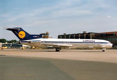 Boeing 727-230/Adv Lufthansa REG: D-ABHI  Nuremberg (NUE / EDDN) Germany June 1988