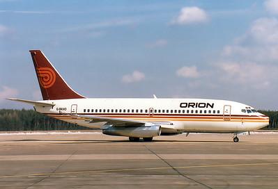 Boeing 737-2T5/Adv Orion Airways REG: G-BKHO  Nuremberg (NUE / EDDN) Germany December 27, 1986