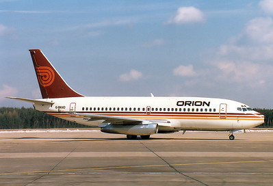 Boeing 737-2T5/Adv Orion Airways REG: G-BKHO  Nuremberg (NUE / EDDN) Germany December 27, 1986