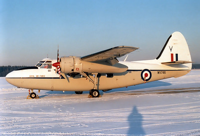 UK - Air Force Percival (Hunting Percival) P-66 Pembroke C1 Reg.: WV746 MSN: P66/53  Nuremberg (NUE / EDDN) Germany - February 16, 1985     A nice visitor on a cold winters day. This aircraft has been preserved and is on display at the Royal Air Force Museum (Cosford).