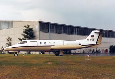 Gates Learjet 25D   c/n 25D-221   Yugoslavia - Government REG: YU-BKR  Nuremberg (NUE / EDDN) Germany June 1980