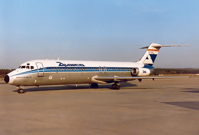 Aviaco   McDonnell Douglas DC-9-34   MSN: 48106 Line No.: 933 Reg.: EC-DGE    Nuremberg (NUE / EDDN) Germany  October 1984    AO 7710 routing Madrid-NUE-Moscow