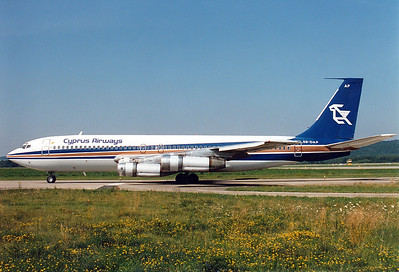 Cyprus Airways REG: 5B-DAP Boeing 707-123(B) MSN: 17635 Zurich (- Kloten) (ZRH / LSZH) Switzerland - August 6, 1988