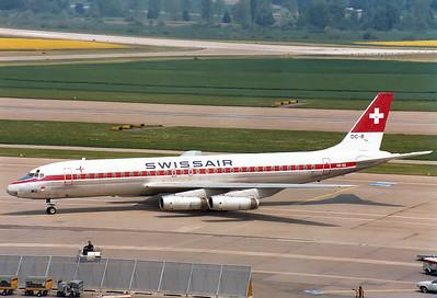 Swissair   HB-IDI   McDonnell Douglas DC-8-62  MSN: 46077 Zurich (- Kloten) (ZRH / LSZH) Switzerland - May 25, 1980
