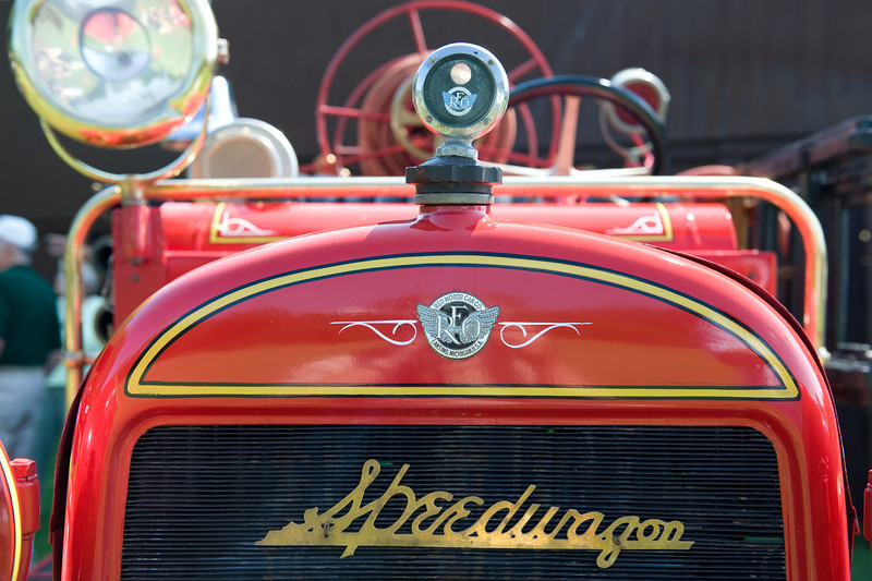 This 1923 REO Speedwagon firetruck spent most of its life serving Acton MA. It's the latest addition to Colling's vehicle collection.
