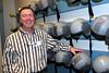 Brian Pyatt with a few helmets