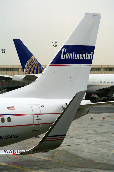 The retrojet on display at Newark