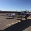 Once I tied down I wandered down to the registration tent. Had to take a  picture of the other planes sporting purple, like this Cessna.