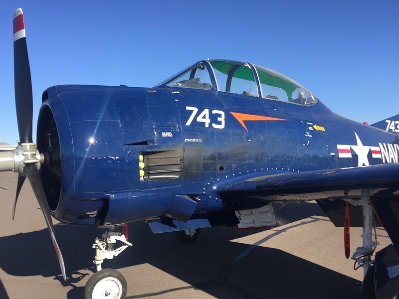 T-28 Trojan in Navy blue.