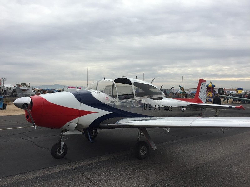 Navion in Thunderbirds livery.