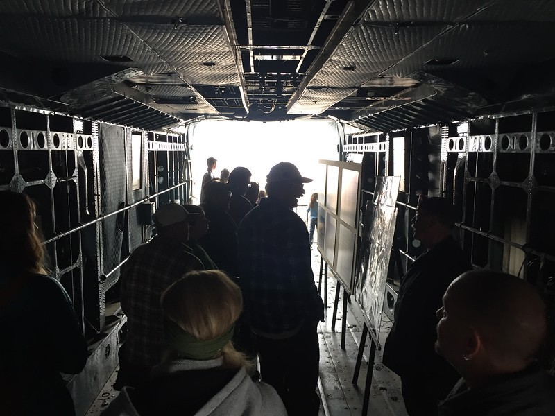 Inside the Boxcar.