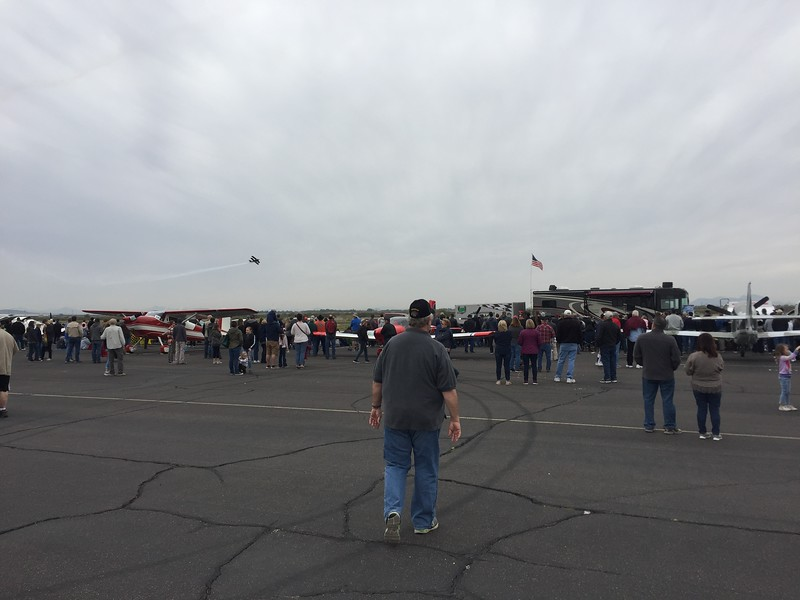 The air show brought lots of the crowd to the flightline.