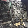 A Vietnam vintage OH-58 Bell helicopter panel.