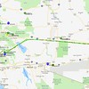 The APRS track of my flight out and back. The trip out was 1.6 hours with big tailwinds and the flight back was 2.0 hours at a much lower altitude to stay below the headwinds.