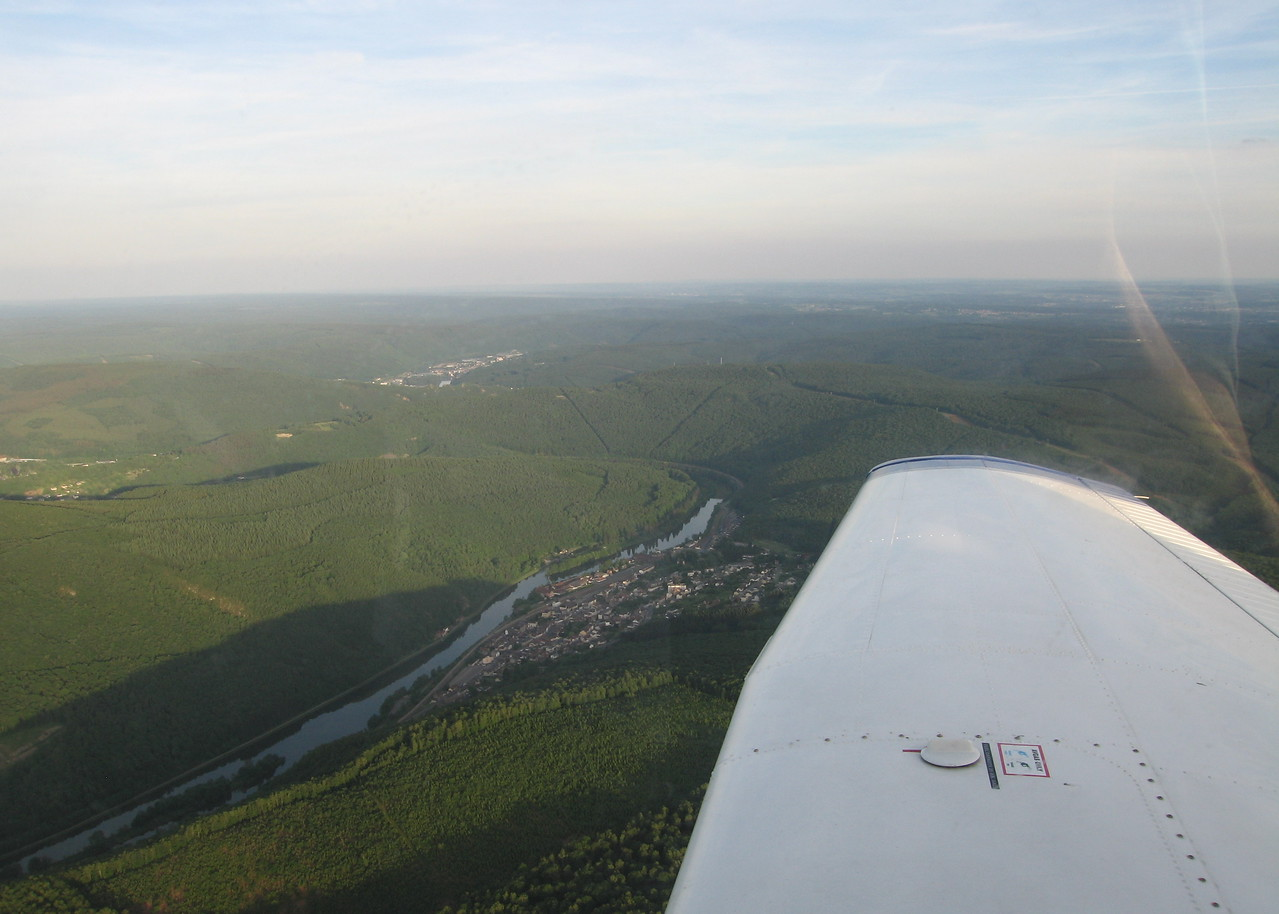 The Ardennes! As great in a plane as on the motorbike.
