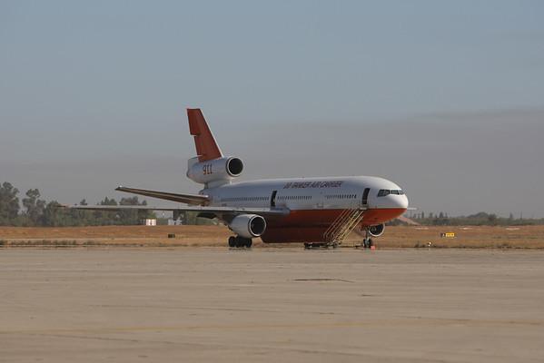 DC-10s  CASTLE AIRPORT  RIM FIRE 2013
