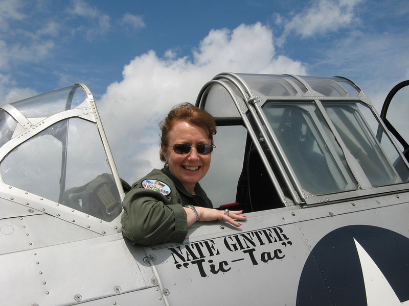 Donna Ginter, Mike's co-pilot.