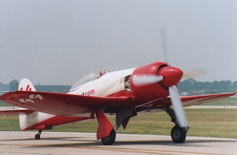 Hawker Sea Fury.  Dayton 2001.