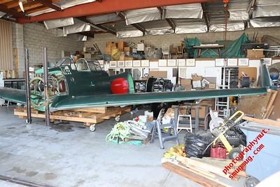 Disassembled Japanese Zero  3 29 18 Chino Airport Southern California, Owner, builder, restorer, and Pilot Kazuaki Yanagida