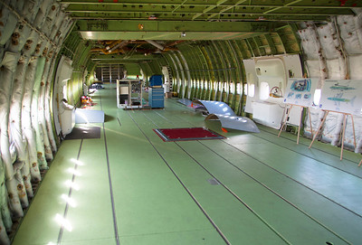 The main body of the 747 is empty since it carried its load on top, not inside.