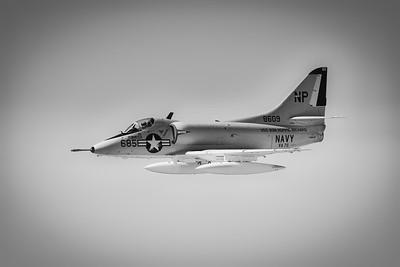 Douglas A-4B Skyhawk - Northern Illinois Air Show - Waukegan, Illinois - Photo Taken: September 9, 2017