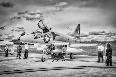 Douglas A-4B Skyhawk - Northern Illinois Air Show - Waukegan, Illinois - Photo Taken: September 8, 2018