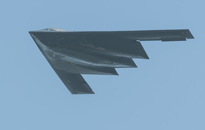USAF B-2 Spirit from Whiteman AFB, Missouri.  You are seeing a $2.1 billion airframe