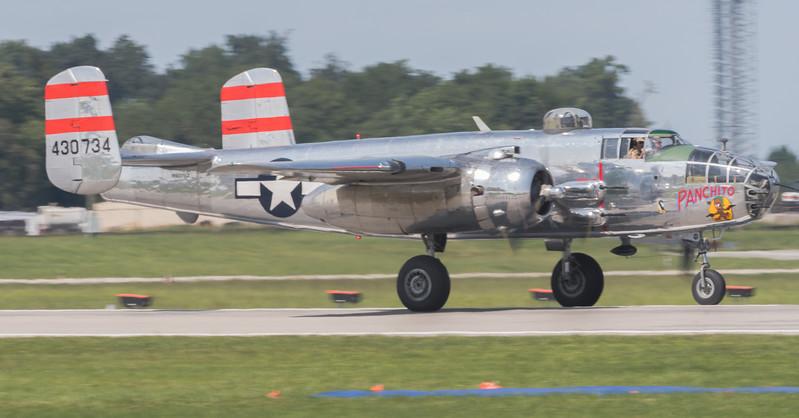 B-25 panned on Runway 14 - 32
