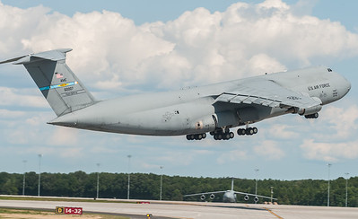 C-5 Super Galaxy rotating off of Runway 14 - 32